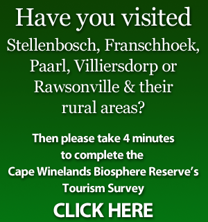 Please complete the Cape Winelands Biosphere Reserve's Tourism Survey