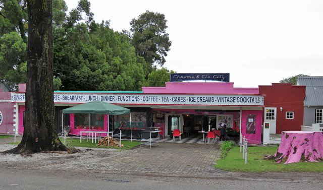 Funky diner in Storms River's main road