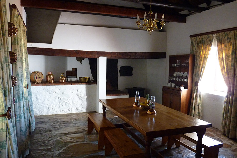 Kitchen in the Manor House at De Hoop