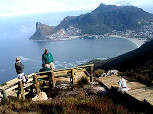 Hout Bay from the top of Constantiaberg