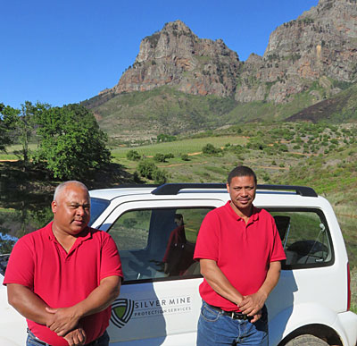 Ricardo Adams and Deon Lucas of Silvermine Protection Services