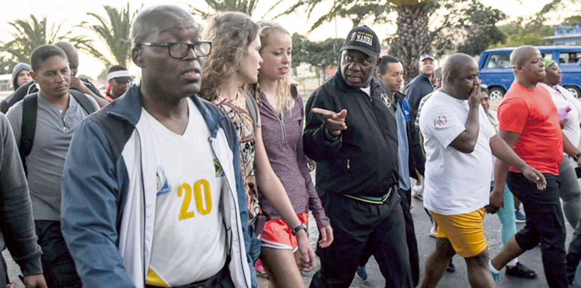 Cyril Ramaphosa on walkabout in Cape Town
