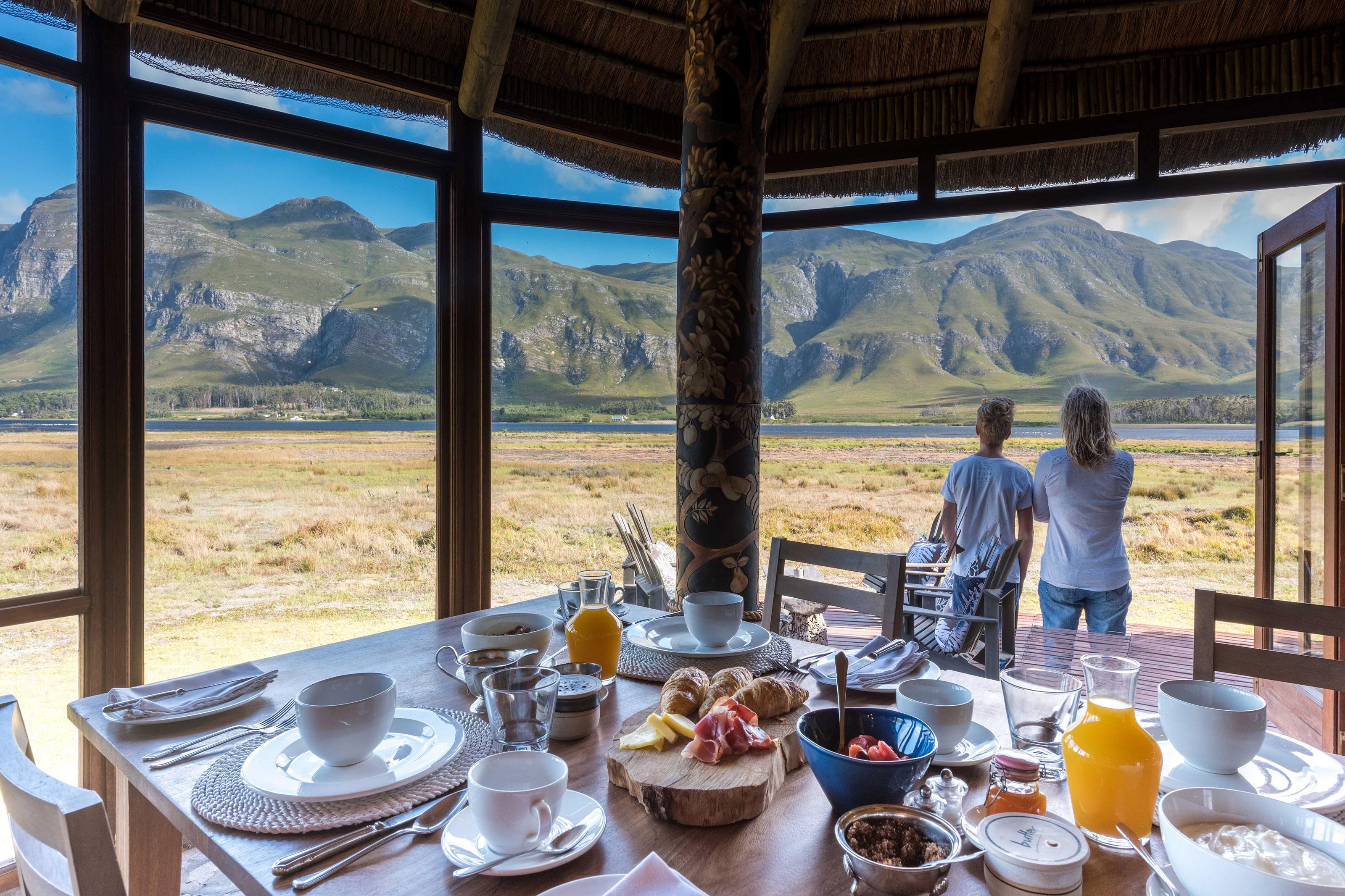 Enjoy fresh cuisine with spectacular mountain views