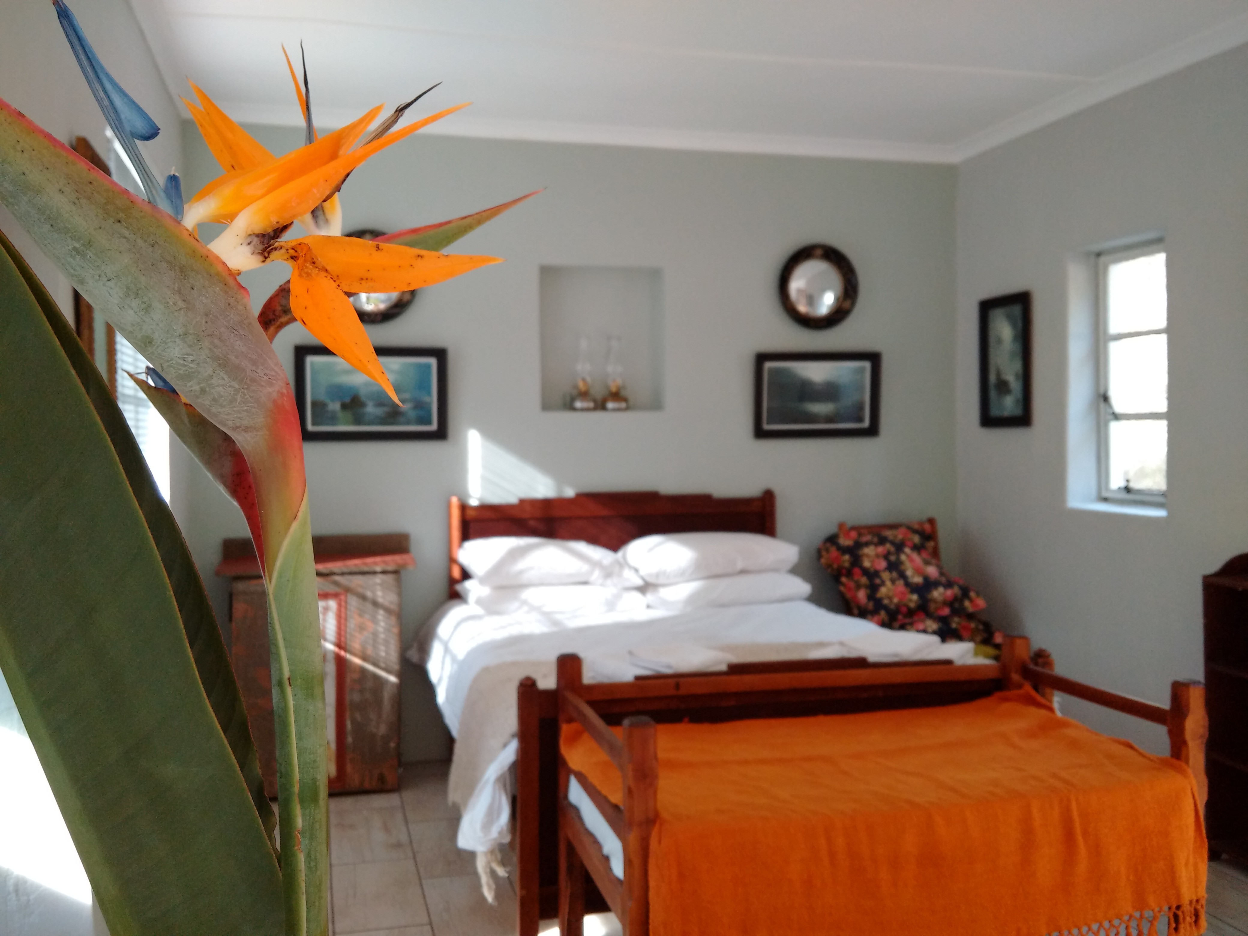 Jansehuis bedroom Wolfkloof Boerdery Swellendam Self catering