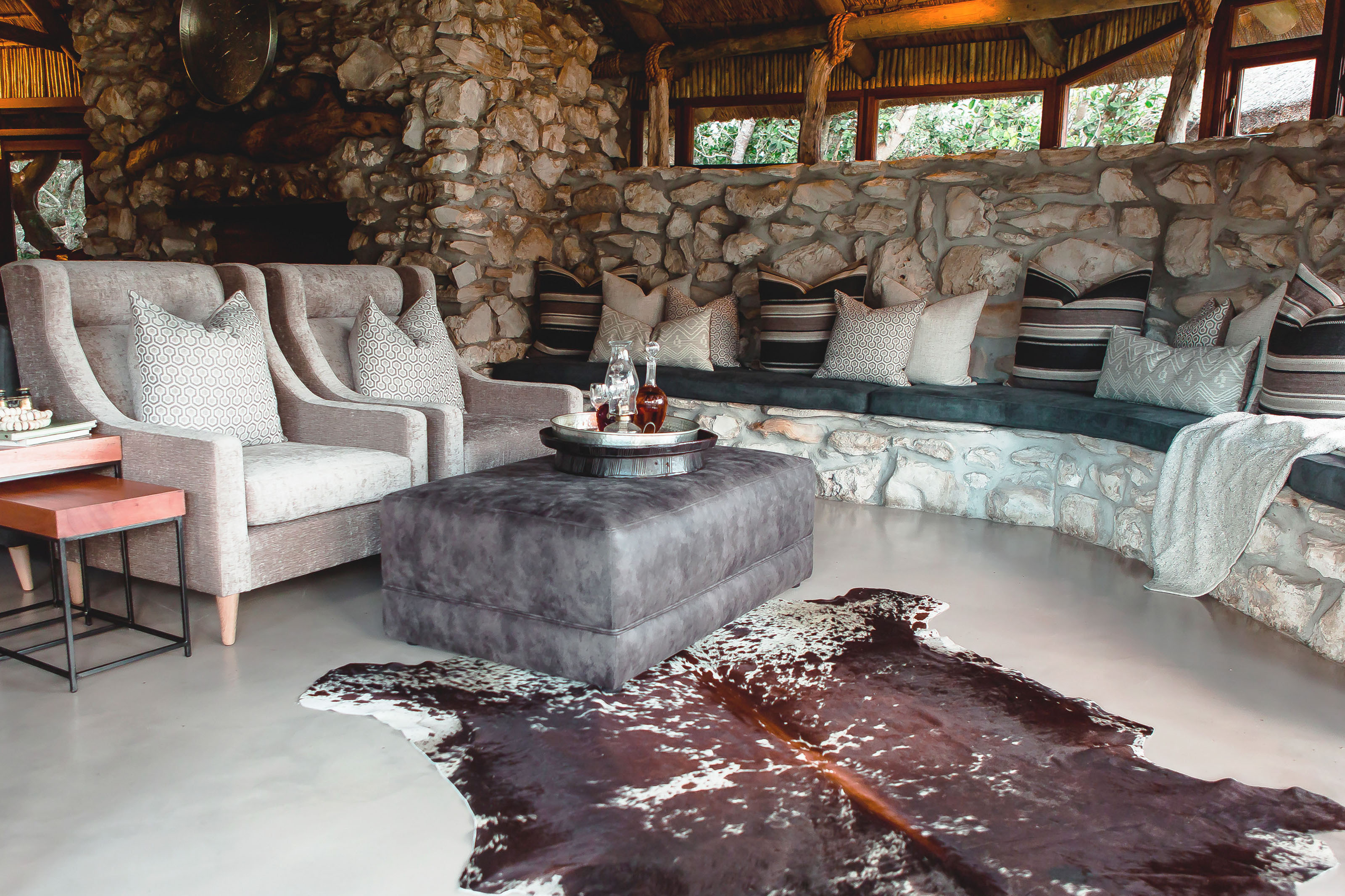 Lagoon Lodge Lounge overlooks the mountains and
