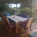 Wooden deck with Gas BBQ
