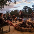 Our Boma on the Lapa - we provide camp chairs.