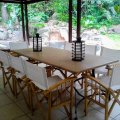 Outdoor dining area on veranda