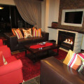 Lounge with fireplace