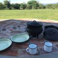 New Braai Area looking out at the waterhole