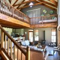 Duminy:  Open living area, dining, full kitchen with gas stove & dishwasher, TV room & sleeping loft with spectacular mountain & lagoon views. All cottages have fire pits & BBQ grills.