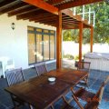 patio with built-in braai