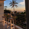 86 balcony sunset