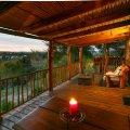 Log Cottage Balcony
