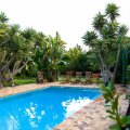 Soak up the sun next to the pool, surrounded by a lush tropical garden, and covered wooden deck chairs or find your perfect spot in the Secret Garden.