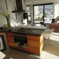 Kitchen with beautiful views over Table Mountain and Lions Head