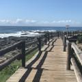 Walk - way along beach
