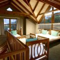 Duminy:  Sleeping loft for 5 with access to outdoor deck and seating with spectacular mountain & lagoon views