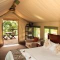 Luxury tents inside