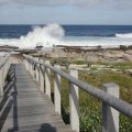 Walkway to rocky Beach.  Watch the sun set meters from your door!