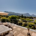 View from Top Patio overlooking backdrop of Table Mountain