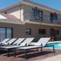 sun loungers and balcony