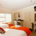 Orange room kitchenette