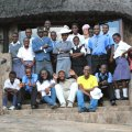 The top 16 pupils from Whitewaters Secondary school visit the lodge for lunch and a talk on conservation