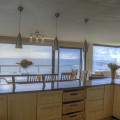 Ocean view from kitchen over dining room