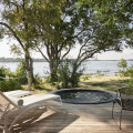 Victoria Falls River Lodge - Luxury Tented Suite private deck with plunge pool