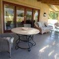 The large shaded veranda.