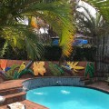 Our swimming pool and communal barbeque areas