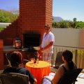 Build in braai on the patio