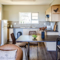 one bed roomed apartment kitchen