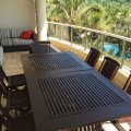Outdoor dining area, sheltered from the elements