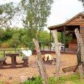 6 Sleeper River Cabin Kitchen area