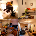 Protea Luxury Suite-A Luxury suite thats the most luxurious and well appointed accomodation,located on the first floor with a king-size bed,which can be converted into two single beds,with the bedroom window overlooking the lush tropical garden,leather sl