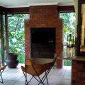 Built-in braai / barbeque on veranda right next to kitchen