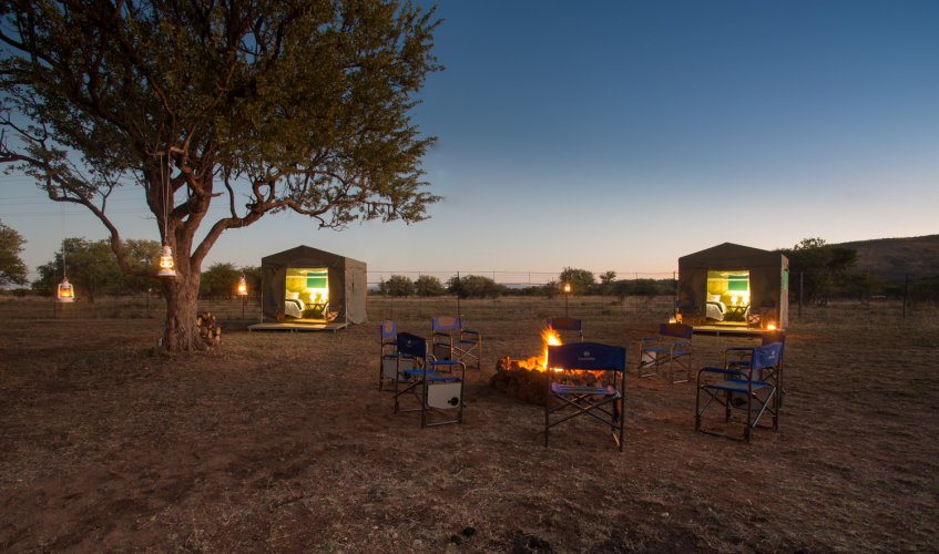 Early evening at our safari camp