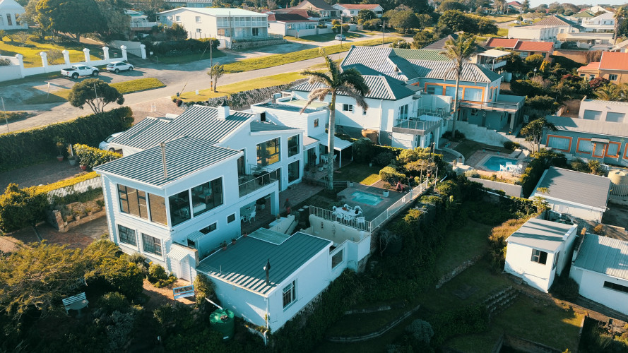 lookout drone - three apartments in The Lookout, and three apartments in House Next door as we call it
