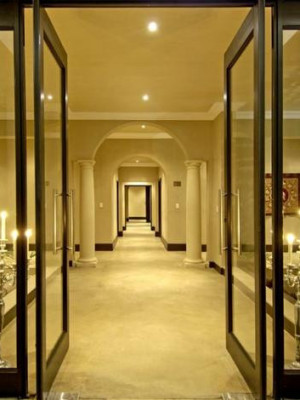 passageway to Conference & Guest Rooms