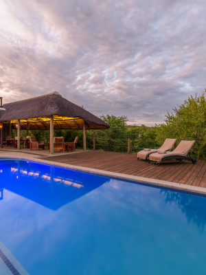 Lengau Lodge - Infinity pool and shaded Lapa