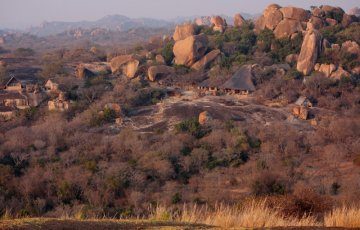 The main lodge is set high on a granite ridge within the World Heritage area, over looking the Matobo National Park