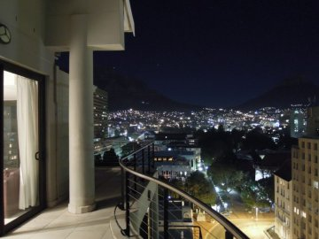 Beautiful wrap around balcony with views of Table Mountain, City and Lions Head.