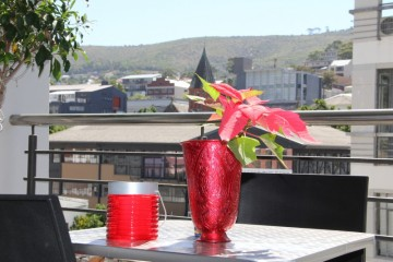 enjoy a drink on the balcony